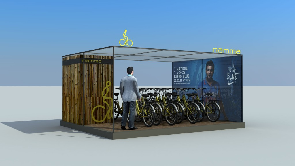 Cycle renting station